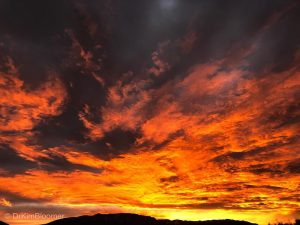 fiery March NM sunrise